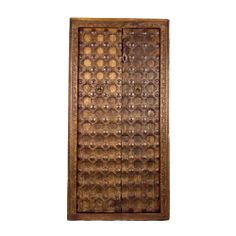 Early 20th century Raj doors with carved frame & exquisite iron work