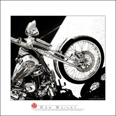 """Six Shot Magazine"" vintage pan head Harley-Davidson springer taken in Fort Collins, Colorado ~db~ Copyright Don Bailey, 2011"