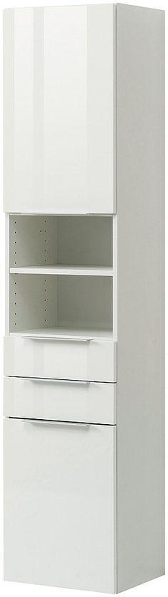 Badezimmerschrank mit zwei Schubladen Weiß-Grau Jetzt bestellen - badezimmer regal schmal