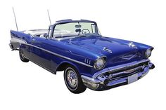 1957 Chevy Bel Air 2 door Convertible canvas and framed prints, phone cases and throw pillows.