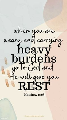 God will give you rest in your time of worry quote