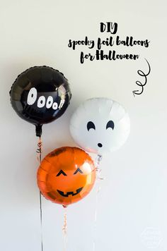 DIY Spooky Foil Balloons for Halloween