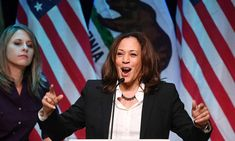 Will it be a black woman who turfs Trump out of the White House? Democratic Senator Kamala Harris at a rally in California in November Mr Trump, Donald Trump, Kirsten Gillibrand, Democratic Senators, Cory Booker, Us Election, Us Politics, Running For President