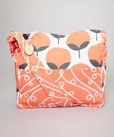 Look at this Brownie Gifts Coral Tree & Swirl Diaper Bag on #zulily today!