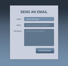 Create a Stylish Contact Form with #HTML5 & #CSS3 #tutorial