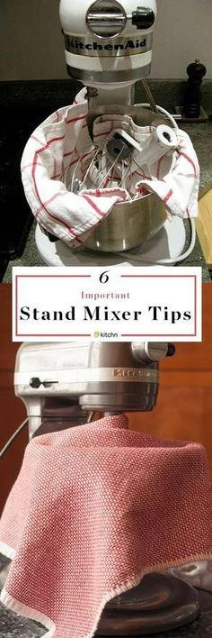 5 Things to Know About Your New Stand Mixer — Baking Tips and Tricks from The Kitchn. If you love your kitchenaid or other mixer, you'll want to read this! Important information about attachments, storage, and more -- read before you try any new recipes. Kitchen Aid Recipes, Kitchen Hacks, Kitchen Gadgets, Kitchen Appliances, Kitchen Ideas, Diy Kitchen, Kitchens, Kitchen Cabinets, Tips And Tricks