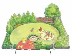 Eplans Landscape Plan - A Functional and Attractive Children''''s Play Yard from Eplans - House Plan Code HWEPL11991