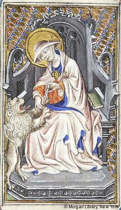 Book of Hours, MS fol. - Images from Medieval and Renaissance Manuscripts - The Morgan Library & Museum Medieval Manuscript, Medieval Art, Illuminated Manuscript, Renaissance, St Jerome, Old Best Friends, Medieval Paintings, Lion Paw, Bible Covers