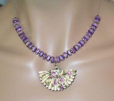Fantastic Purple Flower Beaded Victorian Style by MyJannyMarie, $23.99