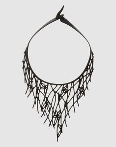 Marzio Fiorini  black rubber necklace