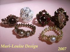 Rings with different kinds of beads