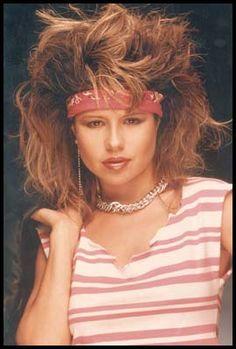 Pia Zadora (80s actress and singer) with voluminous hair and headband