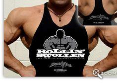 ROLLIN SWOLLEN - Bodybuilding Stringer Tank Top
