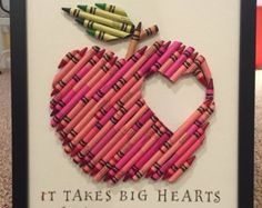 Items similar to Handmade Crayon Letter on Etsy