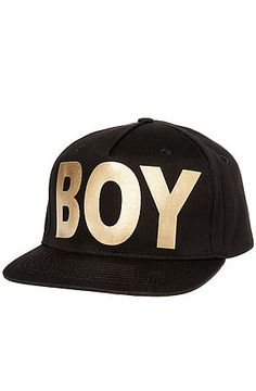 The Boy London Snapback in Black and Gold by Boy London use rep code  OLIVE  for… d7fd3acebd86