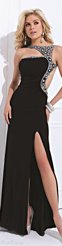Tony Bowls Asymmetrical Gown