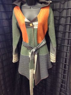 Upcycled ladies medium size cardigan by 47Sweaters on Etsy