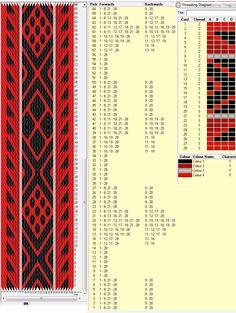 28 tarjetas, 4 colores, repite cada 43 movimientos // sed_241 diseñado en GTT༺❁