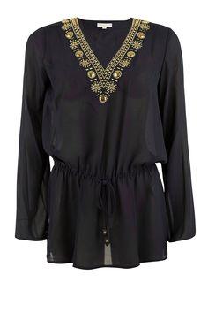 Blouse Embellished | donkerblauw  van MICHAEL Michael Kors op www.littlesoho.com
