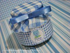 Potinhos de vidro (tipo papinha Nestlé) 100 gramas. Ideal para colocar balinhas e brigadeiro no pote para lembrancinhas de aniversário, batizado, maternidade. R$ 5,50