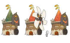 Horun Windmills - Characters & Art - Final Fantasy: The 4 Heroes of Light