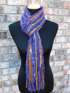 Great LSU scarf for your LSU fan! Skinny Louisiana State University Tigers Scrappy Scarf!