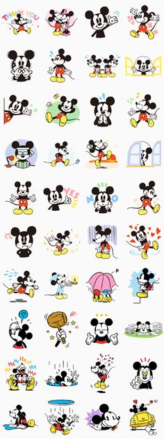 Everyone loves Mickey Mouse, and now he's here on LINE! Whether you're happy or sad, let Mickey express your emotions for you! These are a definite must-see!