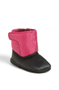 Ralph Lauren Layette 'Alberta Big Pony' Crib Boot (Baby) available at #Nordstrom
