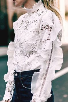 Total admiration for this feminine, floral broderie blouse.