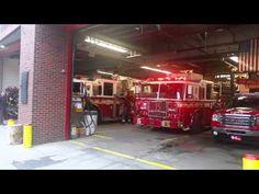 FDNY ENGINE 37 & NEWER FDNY TILLER 40 RESPONDING FROM THEIR W. 125TH ST. HOUSE IN HARLEM, MANHATTAN. - YouTube