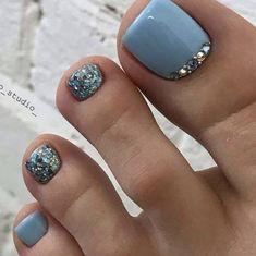 Pretty Toe Nails, Cute Toe Nails, Cute Toes, Pretty Toes, Gorgeous Nails, Simple Toe Nails, Beautiful Toes, Pedicure Designs, Pedicure Nail Art