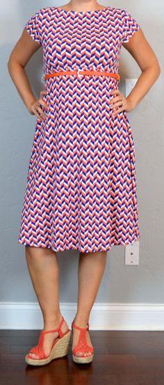 Outfit Posts: outfit post maternity: gameday orange & blue cap sleeve scoop back belted dress, orange wedges (19 weeks)