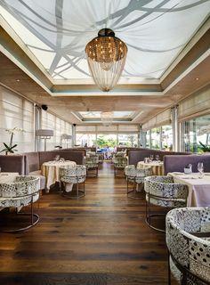 Restaurant at Château d'Ouchy - Lausanne Lake Geneva, Restaurant, Lausanne, Table Decorations, Board, Furniture, Home Decor, Decoration Home, Room Decor