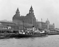 Views of Liverpool, Merseyside, May Docks and Harbour Board Pilot Ship in dock Liverpool Waterfront, Liverpool Docks, Liverpool History, Liverpool Home, Liverpool England, Liverpool Street, Southport, Beach Landscape, Old Photos