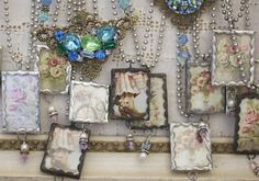 """Christie Repasy and Rita Reade  solder charms """"The Vintage Marketplace"""" March 2013"""