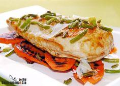 Receta de pechuga de pollo con zanahoria, ajo y parmesa