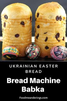 This Ukrainian Babka is made in your bread machine. It's a tender cake- like sweet traditional Ukrainian Easter bread that is a staple at Ukrainian Easter celebrations! Easter Bread Recipe, Easter Recipes, Egg Recipes, Dessert Recipes, Brunch Recipes, Sweet Recipes, Ukrainian Christmas, Banana Bread Ingredients, Ukrainian Recipes