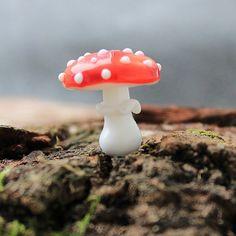 Lampwork-Champignons Glas Pilze Pilz-Perlen von JewelryBeadsByKatie