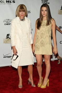Anna Wintour Girl | Anna Wintour Vogue editor Anna Wintour and daughter Bee Shaffer (R ...