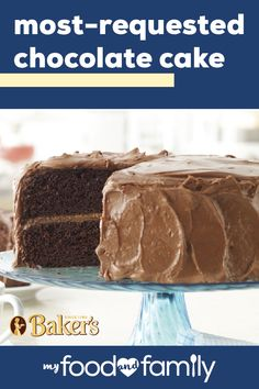 Most-Requested Chocolate Cake - Chocolate makes everything better! And nothing will impress your friends and family more than a tasty and time-tested favorite dessert. Give this 6 step recipe a try, and you'll see how this dessert earned its name! Baking Recipes, Cake Recipes, Dessert Recipes, Keto Recipes, Chocolate Desserts, Cake Chocolate, Just Desserts, Delicious Desserts, Gateaux Cake
