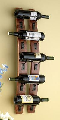 Wine Barrel Stave Wine Rack $129.00