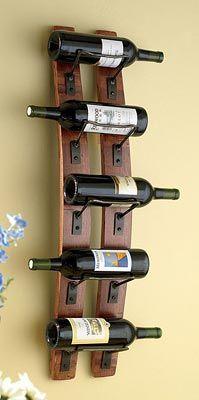 Wine Barrel Stave Wine Rack $129.00