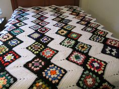 Zig Zag Grannies Afghan 1 by AfghansMadeWithLove on Etsy, $125.00