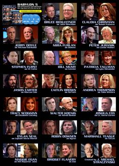 Babylon 5 Character Actor Phoots Then And Now Babylon 5 Actor de personajes Phoots entonces y ahora Trivia, Sci Fi Tv Series, Web Series, Bruce Boxleitner, Babylon 5, And So It Begins, Star Trek Ships, Sci Fi Movies, Movie Tv