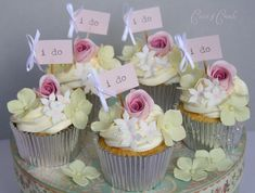 Cupcake bBlooms | Lemon Cupcakes Filled With Lemon Curd And Topped With Swiss Meringue Buttercream.......