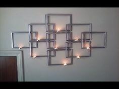 DIY DOLLAR TREE MIRROR WALL DECOR Dollar Store DIY Glam Mirror Candle Holder Wall Art - YouTube