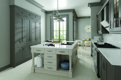 Sophisticated Caple's Leigh painted kitchen collection – charcoal light grey   Beautiful Kitchens Sourcebook