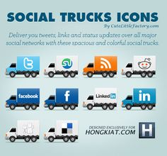 [Freebie] Social Truck Icon Set
