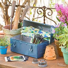 Put a metal lunch pail back to work by converting it into a seed caddy for your garden.