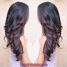 Ideas For Hair Color Burgundy Balayage Red Ombre Colored Curly Hair, Hair Highlights, Highlights 2017, Peekaboo Highlights, Ombre Hair, Blonde Hair, Men's Hair, Gorgeous Hair, Hair Looks
